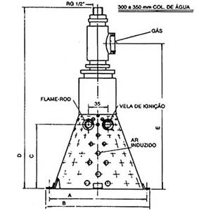 Queimador a gás Série N-1700